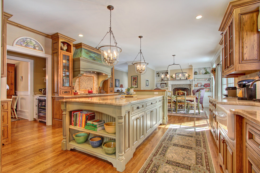 Large Country Kitchen In Custom Built Pinnacle Peak Home At 1400 Mill Hill  Road In